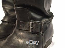 Vintage Pair 1950s Engineer Boots Oil Tanned US SIZE 11 Motorcycle Horse Hide