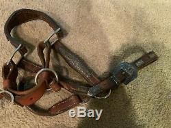 Vintage RODEO STERLING SILVER HORSE Western Show Halter CHAMPION YOUTH MARE 72