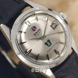Vintage Rado Green Horse Automatic 41 Jewels Silver Dial Analog Dress Mens Watch