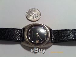 Vintage Rado New Green Horse Swiss Automatic With Date And Leather Strap
