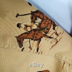 Vintage Ralph Lauren Mens Horse Equestrian Western Jacket Brown Tan Large