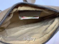 Vintage Rare Gucci 1970 s Crossbody Bag GG Monogram Pvc Web Stripe Flap