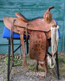 Vintage Rodeo Queen Saddle- 15 seat 1972