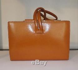 Vintage SWAINE BRIGG Ladies Leather Horse Racing Handbag Bag Clutch London W1