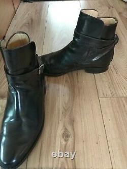 Vintage Sanders Cavalry Officers Jodhpur Strap Ankle Boots Uk Size 8.5