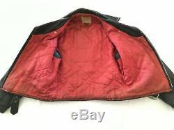 Vintage Sears Supreme Horsehide Horse Hide Leather Asymmetric Motorcycle Jacket