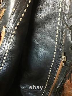 Vintage Single Fringed Leather Chap Armitas Cowboy, Horse, Western