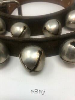 Vintage Sleigh 30 Bells Leather Strap 82 Long Horse
