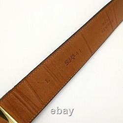 Vintage St. John Black Italian Leather Gold Horse-Bit Buckle Classy SJ41 Size L