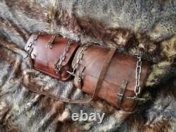 Vintage Swiss Army Saddle Bag Leather Motorcycle Pannier 1939 WW2 Horse Bag