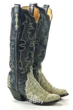 Vintage T. O. Stanley Custom Full Quill Ostrich Vegas Cowboy Boots Women's 6 6.5