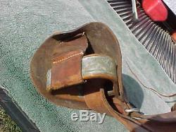 Vintage TEX TAN OF YOAKUM Texas Sm Leather Horse Saddle 414 Used w Stirrups 11