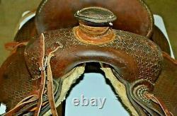 Vintage Tooled Leather Cowboy Western Horse Saddle Geo Lawrence Co. Oregon USA