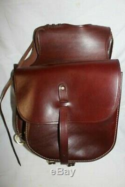 Vintage Triple K Leather Pommel Horse Saddle Bags