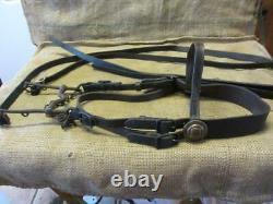Vintage U. S. Cavalry Bridle Bit Antique Leather & Brass RARE FIND Horse 10146