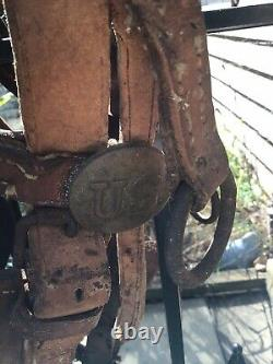 Vintage US Army Cavalry Horse Leather Bridle