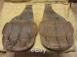 Vintage US Leather Saddle Bags Satchel Antique Horse Western Saddles 9948