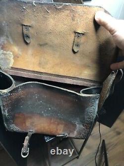 Vintage Western Cowboy Horse Saddle Bags Leather 32.5 11.5 Real Cowboy