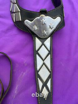 Vintage Western Horse Black Leather PARADE Bridle & Breast Collar Set