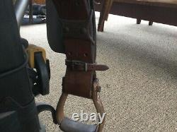 Vintage Western Horse Saddle 15 Equestrian Rare With Stirrups Leather Rare Heavy