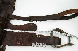 Vintage Western Horse Saddle Leather Brown