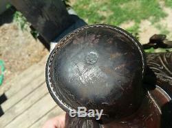 Vintage Western Horse Saddle Lot Simco Big Horn Bonanza 504 Tooled Leather RARE