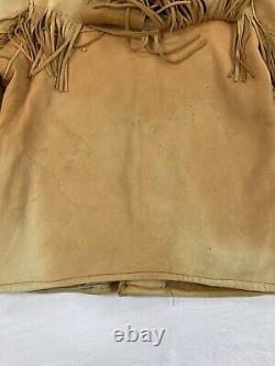 Vintage Western Leather Fringe Tassle Jacket Womens Large Embroidered Horse