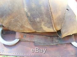 Vintage Western Leather Horse Riding Saddle