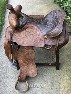 Vintage Western Leather Horse Saddle