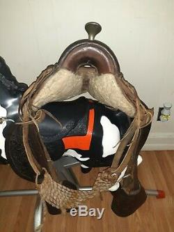 Vintage Western Leather Horse Saddle 13 Model 601 Excellent Condition