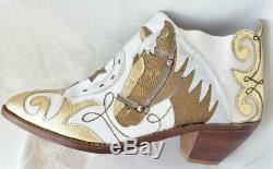 Vintage Zalo Ankle Boots Horse Head Cowgirl Western Southwestern Novelty Gold