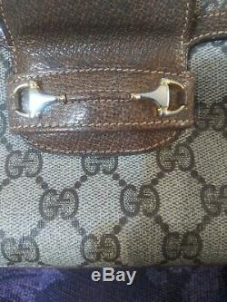Vintage horse bit gucci handbag Made in Italy three compartment. 70's80's