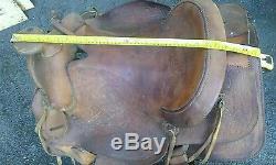 Vintage tooled leather horse saddle