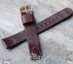 Vintage watch band 16mm Shell Cordovan horse leather JB Champion USA NOS strap
