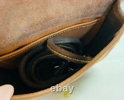 VintageDooney & Bourke RARENUBUCK LeatherCavalry Cross Body Bag 21143H