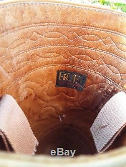 Vtg 70s FRYE Black Label 8171 Campus Stitching Horse Leather Boots 7.5
