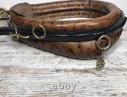 Vtg Antique Leather Horse Collar Yoke Mirror