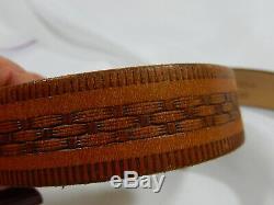 Vtg Don Ricardo Sterling Silver & 10k Yg Horse Belt Buckle Hickock Leather Belt