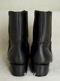 Vtg Gucci Black Leather Horsebit Horse Bit Ankle Boots 7 7.5 Italy 8