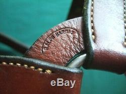 Vtg Harris Silver Overlaid Horse Show Halter Congress Cut AQHA Western Leather
