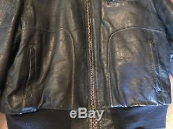 Vtg Horsehide Leather 40s Bomber Flight Motorcycle Jacket Mens WWII Horse Hide