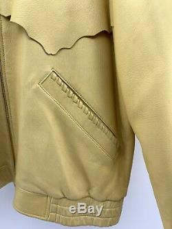 Vtg Scully Mens 42 Western Indian Native American Hunting Horses Leather Jacket