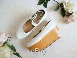 Vtg Vivienne Westwood White Leather Rocking Horse Ballerina Shoes Nana Us7/uk5