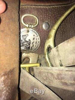 Vtg Zaldi Salamanca English Saddle Leather Horse Saddle