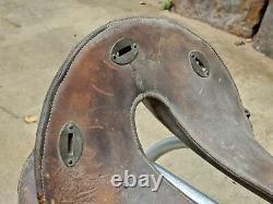 WW1 M1904 McClellan Horse Drivers Leather Saddle Vintage