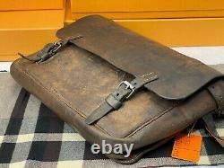 WW2 Vintage 1940 Military Leather Cavalry Messenger Shoulder Briefcase Bag Mens