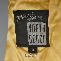 XS North Beach Leather 1990s Leather Vest Southwest Native American Style Horse