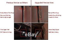 YALUXE Womens Vintage Style Crazy Horse Leather Work Tote Shoulder Bag UPGRADED